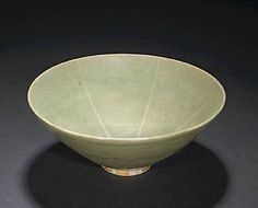 A Yaozhou celadon glazed stoneware bowl. Northern Song Period,China,  Photo Bonhams. Property from the Harvard Art Museums