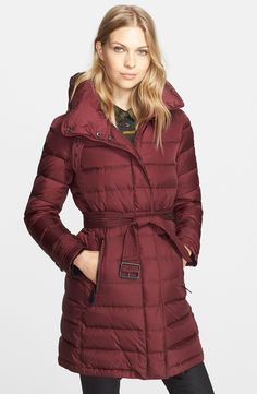 Cold weather approved down coat by Burberry.
