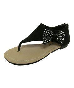 Look what I found on #zulily! Black Jessi Sandal #zulilyfinds