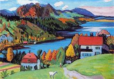 art by quenalbertini - landscape, painting by Gabriele Münter (German, 1877–1962)-via blog.naver...
