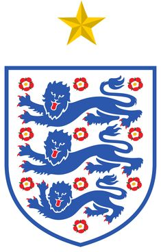 England's 8 goals are the joint most they have ever conceded in a World Cup finals. England Football Badge, England Badge, England National Football Team, National Football Teams, Leeds United, Manchester United, Football Team Logos, Soccer Logo, Sports Logos