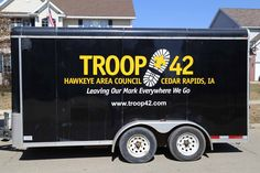 New Scout Troop Equipment Trailer Vinyl Vehicle Wrap