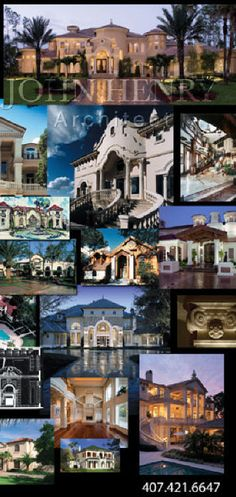 Luxury Custom Home Architect John Henry Luxury House Plans, Luxury Houses, French Interior, Interior Design, Renaissance Architecture, Craftsman Style Homes, Luxury Estate, Architect House, Hotel Interiors