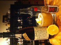 Jeffrey Morgenthaler'a Amaretto Sour.  1.5oz Amaretto (we used Luxardo), .75oz cask proof #bourbon, 1oz lemon juice, 1tsp 2:1 simple syrup, .5oz egg white. Dry shake, shake with ice, strain over fresh ice and garnish with lemon twist. #cocktail #recipe