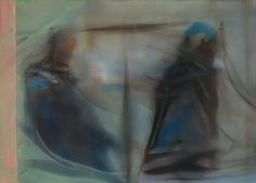 Marvin Aillaud - Silhouettes fragmentées #12 - 2015 - Huile sur toile - 65 x 92 cm #lamicrogalerie #marvinaillaud #peinture #huilesurtoile #artcontemporain