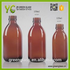 Amber glass bottles for syrup DIN 28mm