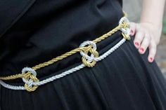 DIY Belt: DIY Refashion: DIY Fashion Idea: Make a Knotted Metallic Belt