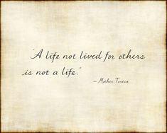 Handwritten Mother Teresa quote on vintage paper by idrawforfood, $10.00