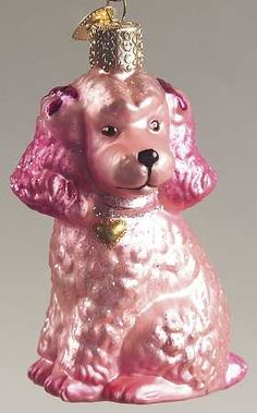 Merck Family's Old World Christmas Merck Family's Old World Christmas Poodle-Pink - No Box