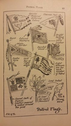 Boy Scout Patrol Flags - Handbook for Patrol Leaders 1949