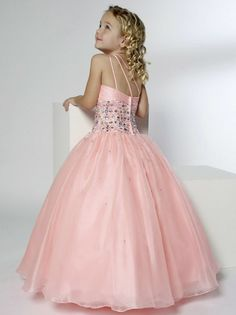 Coral+Flower+Girl+Dresses | ... Pleated Floor Length Designer Coral Flower Girl Dresses - AuBridal.com