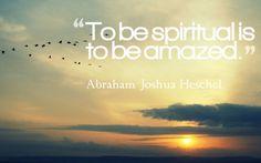 Abraham Joshua Heschel and amazement
