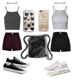 """"""""""" by lousworld on Polyvore featuring moda, River Island, Topshop, Glamorous, Converse, NIKE, Wet Seal i Casetify"""