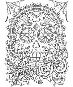 Sugar Skull Coloring PagesFall ColoringFree PagesColoring SheetsAdult ColoringColoring BooksAfter