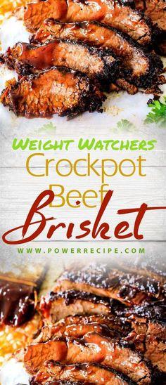 Slow Cooker Beef, Slow Cooker Recipes, Crockpot Recipes, Low Calorie Crockpot Meals, Beef Brisket Crock Pot, Bbq Beef, Meat Recipes, Cooking Recipes, Healthy Recipes