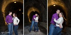 Love the Wilkes street tunnel! Misha's Coffee & Old Town Alexandria Engagement Session in Virginia.  www.ryanandrach.com #virginiaweddingphotographer #ryanandrach #engagement