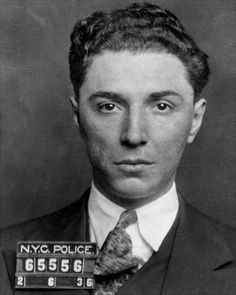 Government photo: David Little Davie Petillo, 1936 arrest in Lucky Luciano prostitution case.