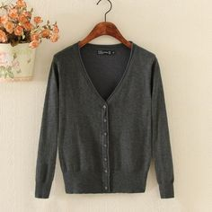 26 Solid Colors cardigans Autumn Winter all-match women knitted sweater V-Neck cardigan female short jacket Coats shirt Tops