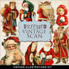 Free vintage clip art for scrappers.  http://bestfreedigitalscrapbook.com/free-scrapbook-elements/scrapbook-christmas-vintage-free-illustrations/