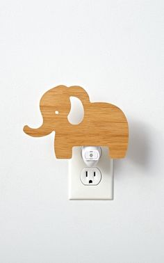Shop Wooden Elephant Night Light. Our wooden Elephant Night Light is going to be the best sleepover guest ever. It's so polite it will provide your kid's room or nursery with a soft, soothing glow night after night.