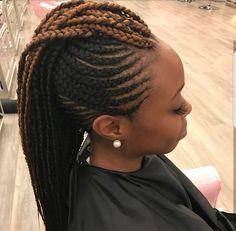 Braided Mohawk Black Hair, Braided Mohawk Hairstyles, Black Girl Braids, Dope Hairstyles, African Braids Hairstyles, Braids For Black Hair, Girls Braids, Mohawk Braid Styles, Wedding Hairstyles