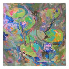 "Trixie Pitts ""Water Lilies"" Abstract Painting on Chairish.com"