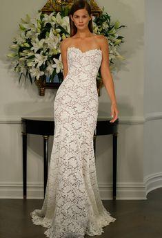 Strapless Lace Wedding Dress | Romona Kaveza LEGENDS Fall 2015 | blog.theknot.com