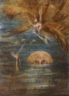 Leonora Carrington (British, Mexican, 1917 - 2011) Figure in water 1960