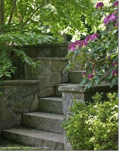 Stone walls and stairs