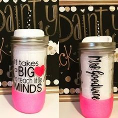 I just added this to my closet on Poshmark: Mason Jar Teacher Glitter Tumbler. Price: $25 Size: 24oz