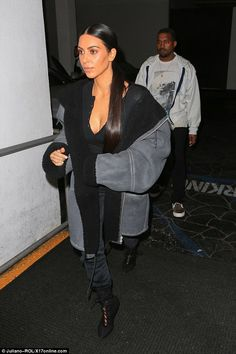 Treating her:The famous duo had a romantic date night at an Italian eatery after stopping off at celebrity hot spot Epione