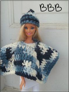 Crochet Barbie Clothes Outerwear Poncho by BarbieBoutiqueBasics