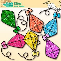 Kites clipart: Are you putting together a fun, Spring-themed bulletin board and need some cute graphics to accompany your student artwork? Are you a teacher-author looking to dress up your product covers? Need some cute graphics to make center activities or classroom signs?