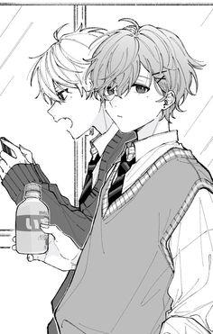 Anime W, Anime Guys, Anime Drawings Sketches, Cute Drawings, Drawing Reference Poses, Art Reference, Cute Anime Character, Character Art, Cartoon Art Styles