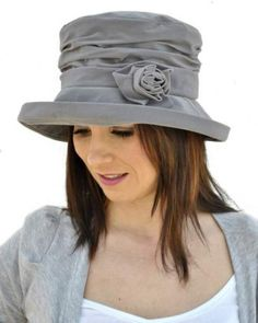 cloche hat ladies grey stylish velour finished cloche img-5