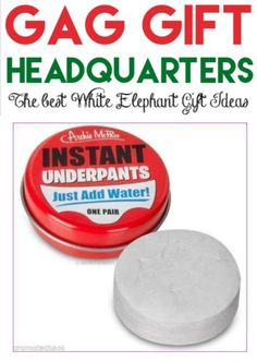 Find your best gag gift ever! So many great White Elephant gift ideas for just about anyone. Christmas parties are always more fun with silly gifts!