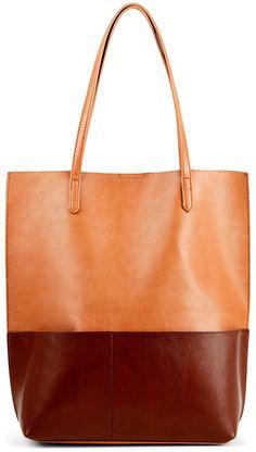 Easton Oversize Color Block Bucket Tote w/ Pockets #affiliate