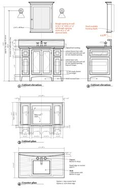 Boy's vanity Furniture Plans, Furniture Making, Drawing Interior, Interior Design Portfolios, Fashion Design Portfolio, Technical Drawings, Vanity Design, Vanity Units, Cafe Interior