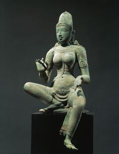 A 10th century bronze statue of the Hindu goddess Parvati from the Chola Dynasty.