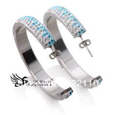 Aliexpress.com : Buy Newest Design Stainless Steel Hoop Earrings,Metal Hoop Earrings Jewelry For Ladies 2013,Free Shipment from Reliable earings accesories suppliers on Bulgatina Brand Store    Alibaba Group