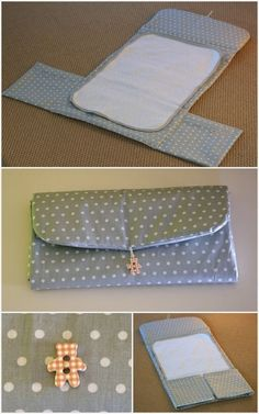 Diaper bags -- like purses and wallets -- can be magnets for clutter. I speak from personal experience when I say that things go into them and rarely, if ever, Couture Bb, Couture Sewing, Baby Sewing Projects, Sewing For Kids, Kit Bebe, Fabric Origami, Changing Bag, Creation Couture, Baby Crafts
