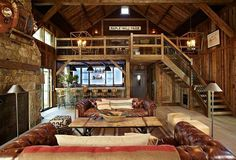 Every room in this music barn is fabulous!  Designed by Kelly & Co