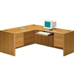 HON L-Shaped Office Desk w/Right Return. Renovating, redecorating or updating your workspace? Hertz Furniture offers a variety of office furniture pieces that will fit your needs and budget. http://www.hertzfurniture.com/office-furniture.html