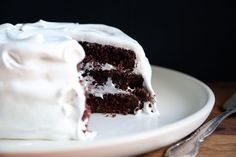 Devil's food cake meets angel icing for the most perfect pairing in cake history.