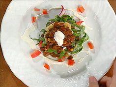Vegetarian Chili Masa Cake Stacks