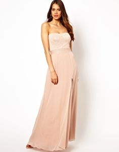 I would be ok with everyone in this one, Lipsy Bandeau Maxi Dress with Glitter Bodice