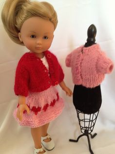 Ravelry: Doll Sweater for 13-inch Dolls pattern by Janet Longaphie