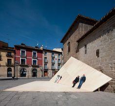 Image 5 of 17 from gallery of La Hoja Installation / FAHR Photograph by Josema Cutillas Pavilion, Louvre, Community, Urban, Landscape, Gallery, Building, Rioja Spain, Travel