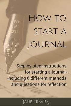 If you want to start a journal but don't know where to begin, this guide is for you. I walk you through the whole process, and include 6 different methods and questions for reflection. Take a look