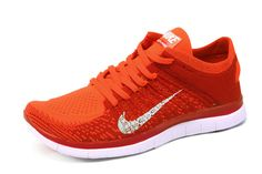 Free Shipping Only 69$ Nike Men Free 4.0 Flyknit Raspberry Red Bright Crimson White